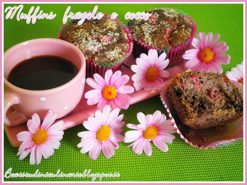 muffins alle fragole e cocco