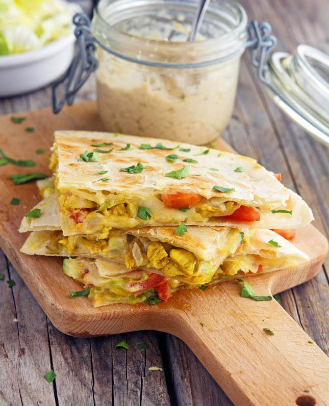 Shawarma Chicken Quesadillas