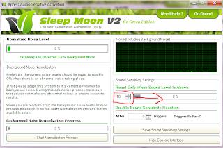 Pengaturan sleep moon