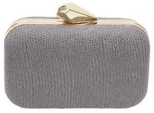 clutch gris plata CL fashionable para fiesta Nochevieja