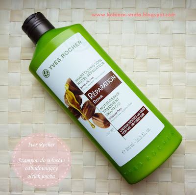 Yves Rocher - Szampon odbudowujący do włosów - NOWOŚĆ - olejek jojoba i olejek ze słodkich migdałów