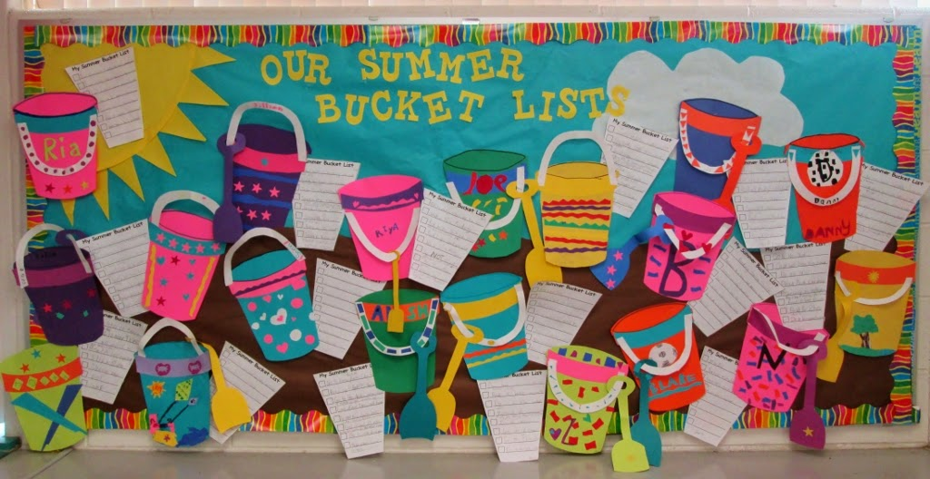 In Classroom Summer Bucket Lists on Library Bulletins For Spring