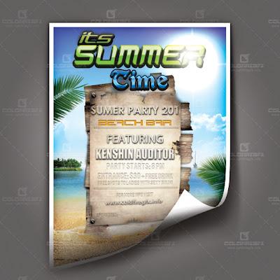 Summer Poster PSD Template