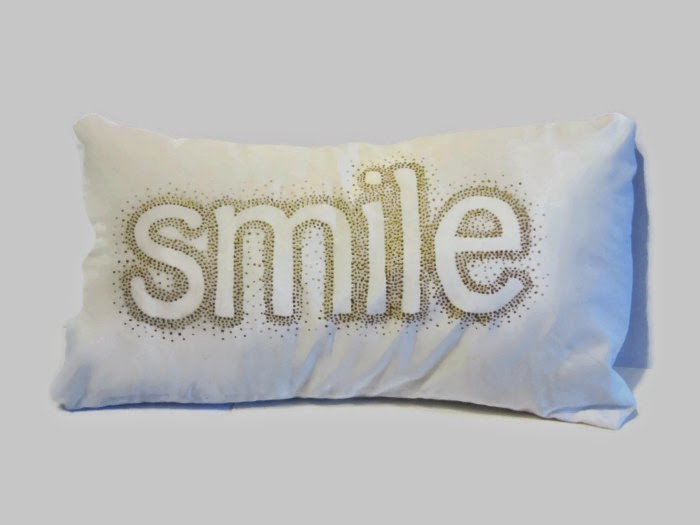 decorative white gold pillow cover