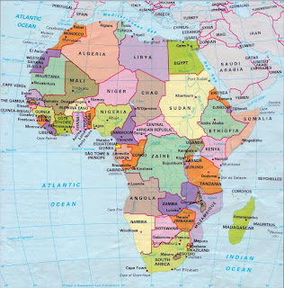 africa map capitals