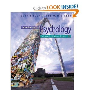 Introduction to Psychology Coon 13th Edition