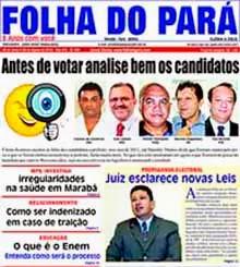 JÁ NAS BANCAS A NOVA EDIÇÃO DO JORNAL FOLHA DO PARÁ - VEJA AS PÁGINAS