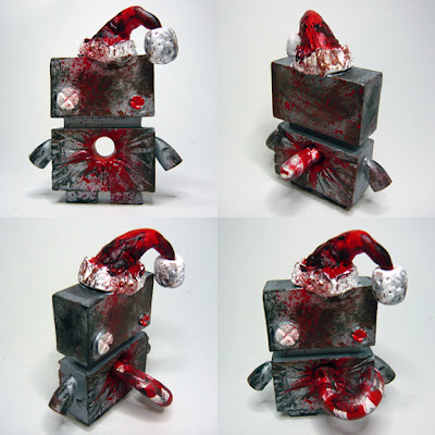 Christmas Jellybot Resin Figures by The Jelly Empire - Xmas Zombiebot