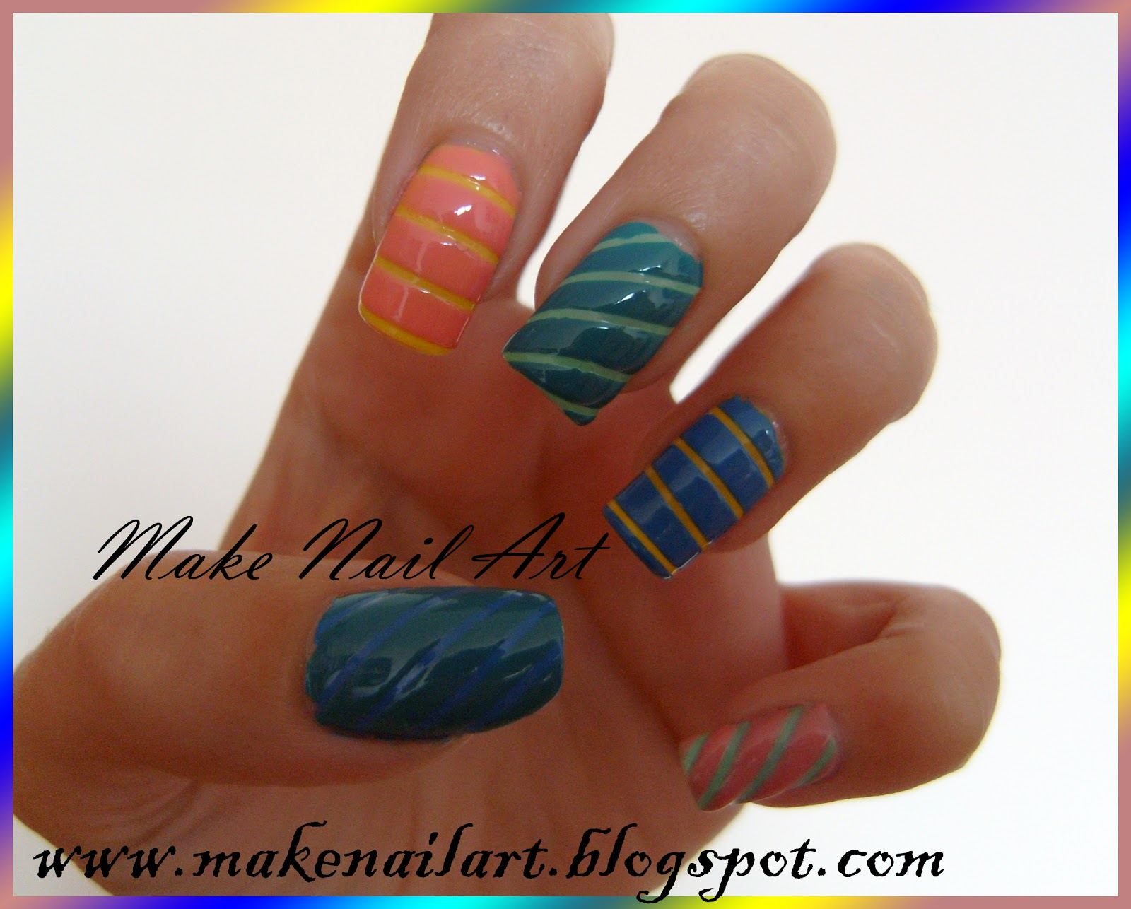 Easy Nail Designs with Tape