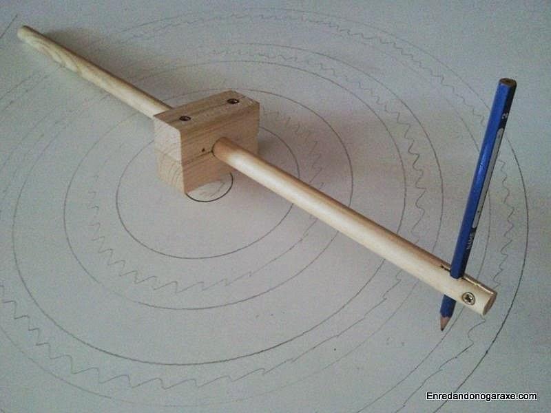 Cómo hacer un compás de varas. www.enredandonogaraxe.com