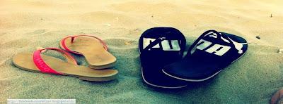 Couverture journal facebook sur la plage