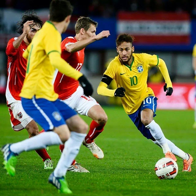 Neymar JR Austria vs Brazil 2014 ~ Fc Barcelona Photo Neymar Jr Brazil 2014