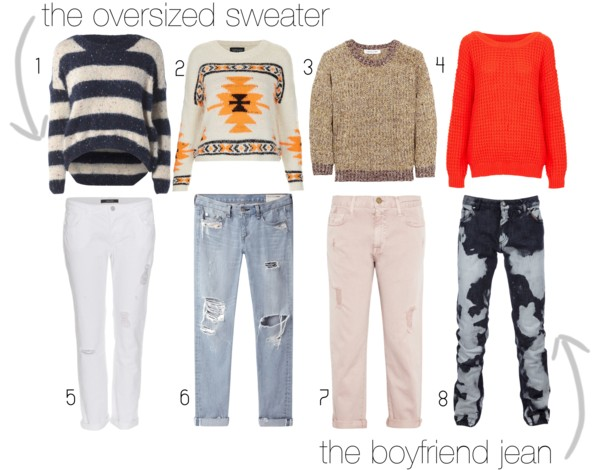 Boyfriend Jeans, Oversized Sweaters, Knitwear, baggy jeans, destroyed denim, tribal, chunky sweaters, polyvore
