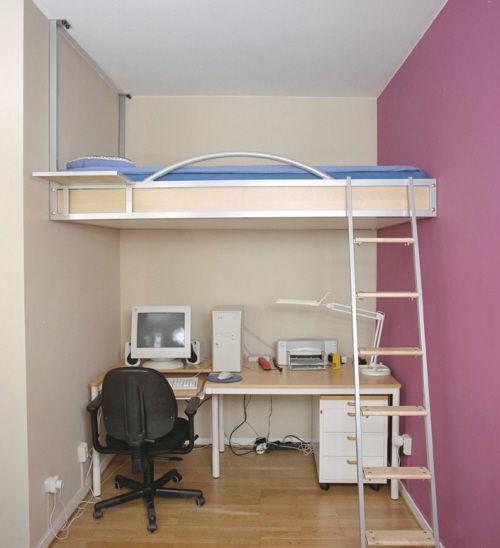 intrior kamar tidur anak dengan ruang terbatas