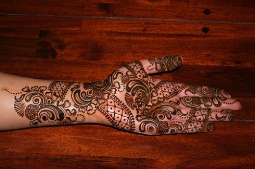 Arabic Mehndi Flower : Arabic mehndi design bridal collection fashion week