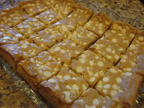 sticky white chocolate cake bars fluffernutter 1 box yellow cake