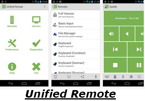 Unified Remote for Android Smartphones