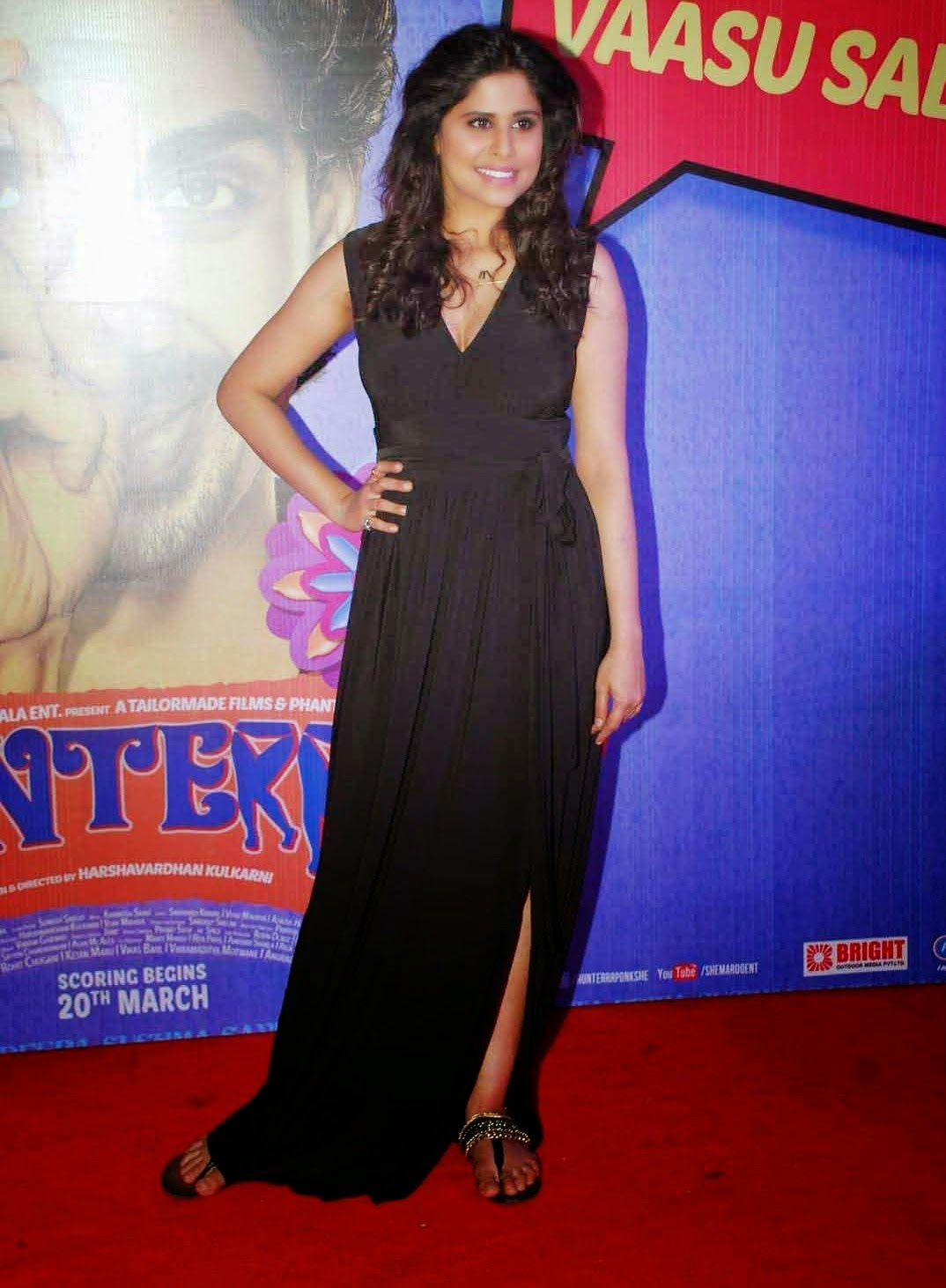 Sai Tamhankar at Hunterr Hindi Movie Premiere Show Stills