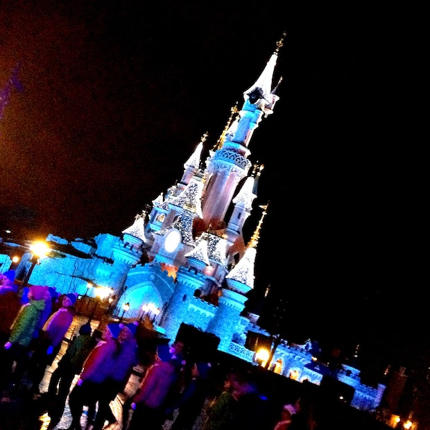 Disneyland Castle by night