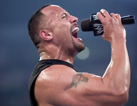 The rock screaming at the mic NASA space program moon landing controversy science astronomy space astronauts apollo
