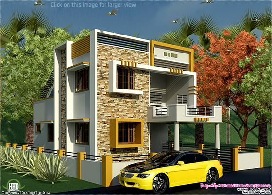 South indian style new modern house design plant style for South indian model house plan