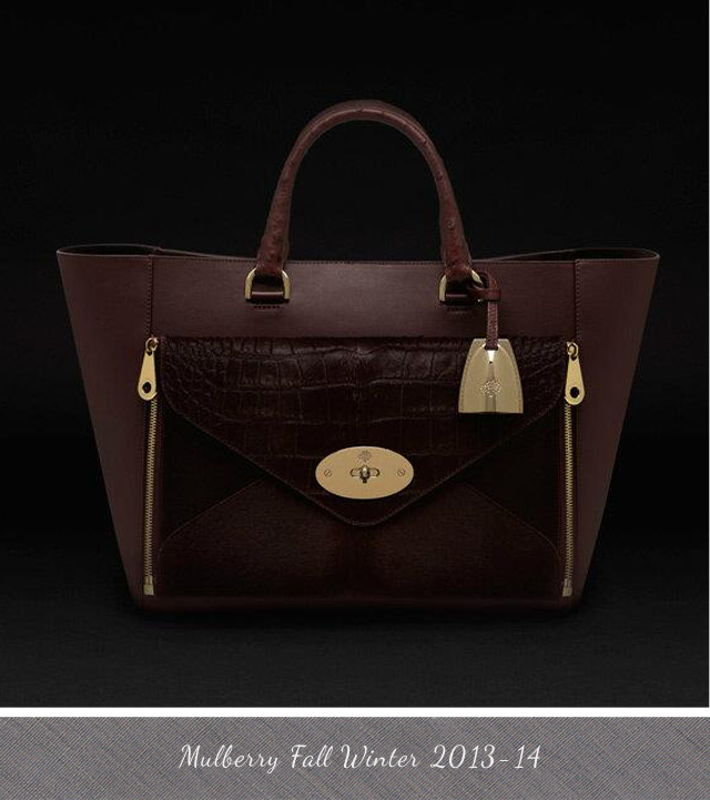 Mulberry Oxblood Willow Tote Bag for Fall Winter 2013 2014