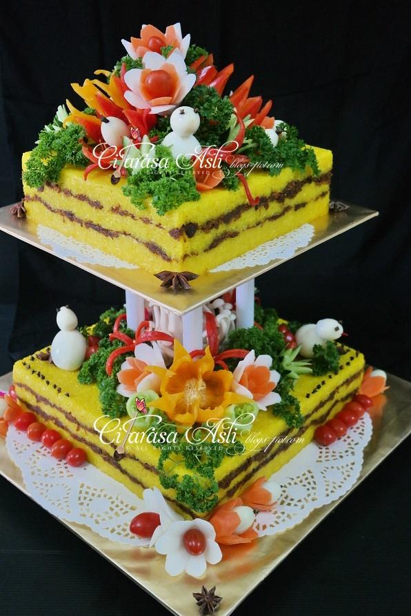 Pulut Kuning Perkahwinan - 2 tier