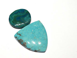 Natural Birds Eye Kingman Turquoise and Morenci Chrysocolla Malachite Azurite
