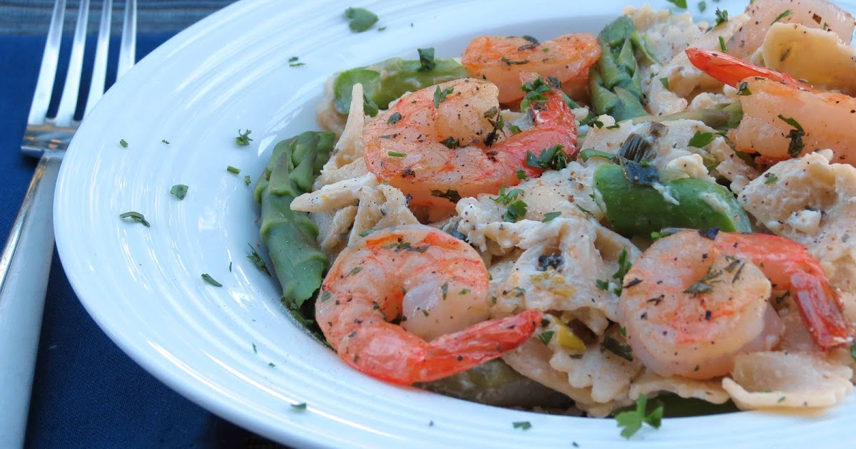 Dinner with the Welches: Shrimp & Asparagus Pasta with Goat Cheese