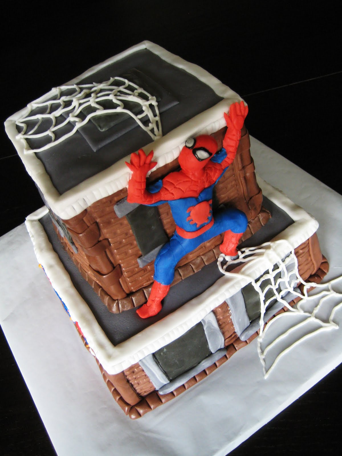 Spiderman Birthday Cake Edible Image