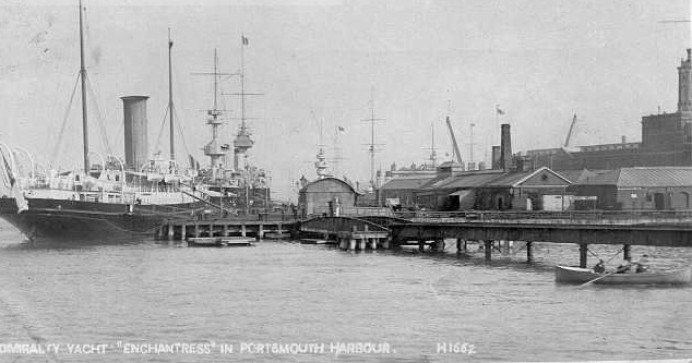 Royal Yacht Victoria and Albert at South Railway Jetty