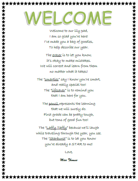 Short Welcome Poems For Church | just b.CAUSE