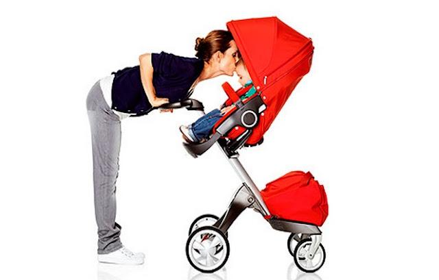 Cochecito de bebé moderno y práctico