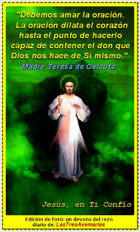 jesus (frase madre teresa amar la oracion)