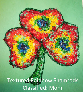 Textured Rainbow Shamrock Kids Craft