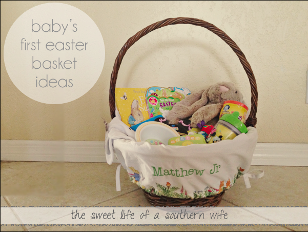 The sweet life of a southern wife my lil bunnys easter basket a tisket a tasket ideas for your little bunnys easter basket negle Choice Image