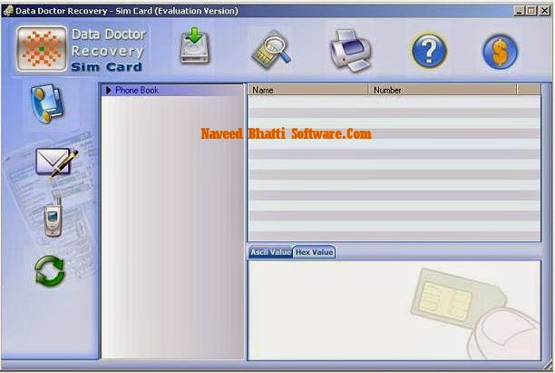 Mobile SIM card recovery software restore accidently deleted text messages,