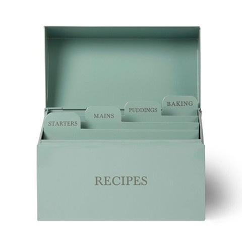 caja metálica de recetas