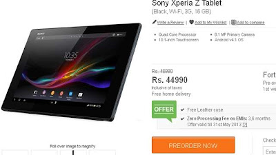 Sony Xperia Z : a complete spec review into the world's thinnest 10 inch tablet