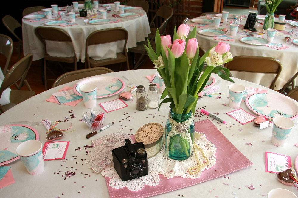 Junkinjane vintage inspired bridal shower