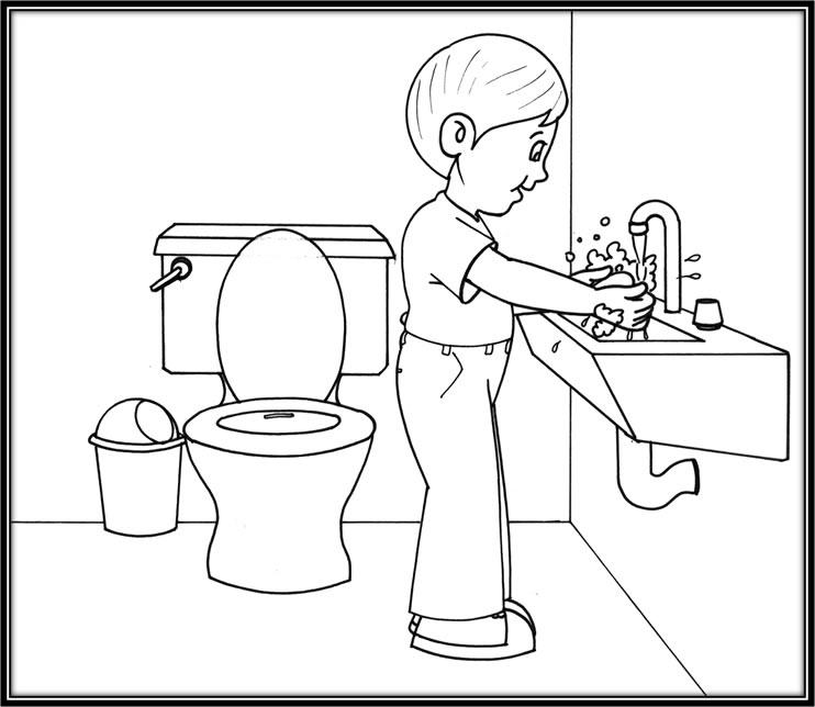 Dibujos de niño lavandose las manos - Imagui