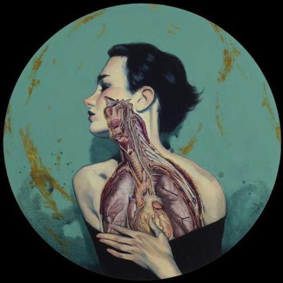 fernando vicente vanitas pinturas anatômicas corpos cortados músculos órgãos sombrios