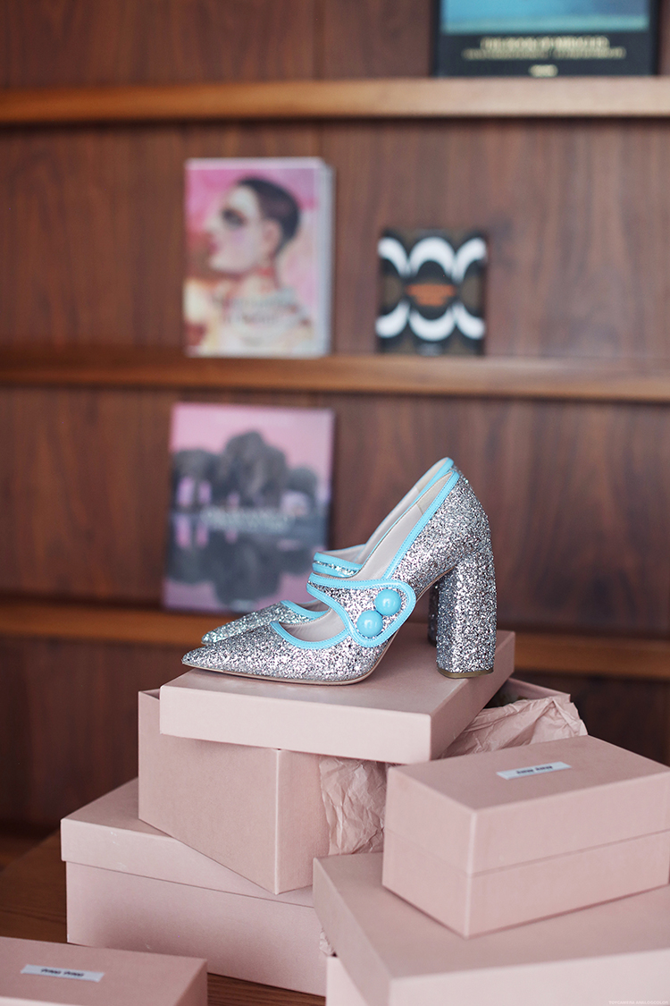 Shoe of the month: Miu Miu - Runway Glitter Mary Janes