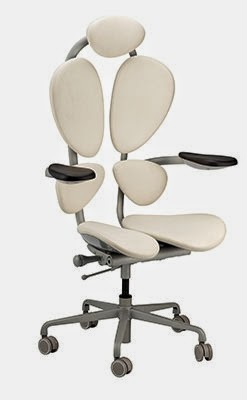 White Chakra Chair by Eurotech