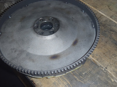 Burned lightweight flywheel