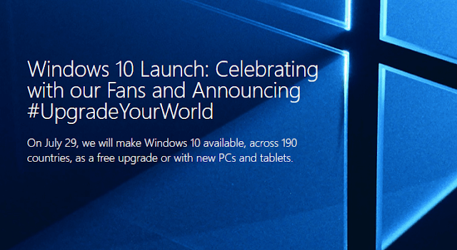 Windows 10 launch July 29