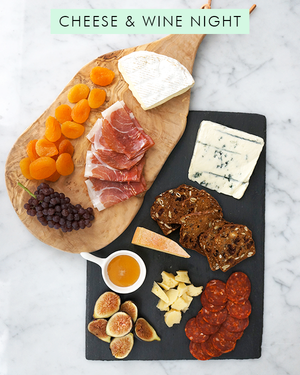 3 Date Night Ideas for Staying In cheese plate