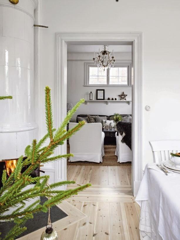 Decoracion navide a natural en una casa sueca decorar tu - Decoracion navidena natural ...