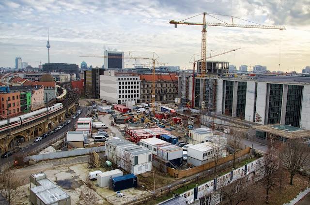 Baustelle Erweiterung Marie-Elisabeth-Lüders-Haus, Schiffbauerdamm, 10117 Berlin, 13.01.2014
