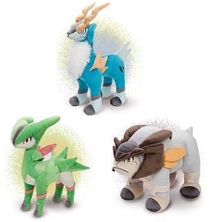 Pokemon Plush Cobalion Terrakion Virizion PokeCenJP